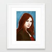 amy pond Framed Art Prints featuring Amy Pond by MODBLOT: Art of Dan Marek