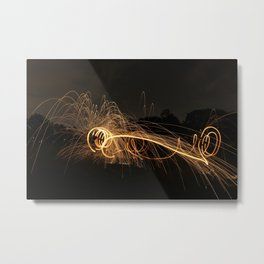 Sparks That Fly Metal Print