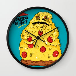 Pizza The Hutt Wall Clock