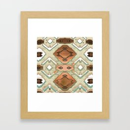 Copper Geometric Antique Framed Art Print