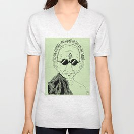 Weekend at Gandhi's Unisex V-Neck