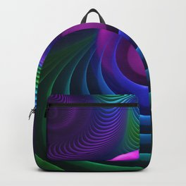 Beautiful Rainbow Marble Fractals in Hyperspace Backpack