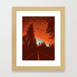 Two Lanes in the Fall Framed Art Print