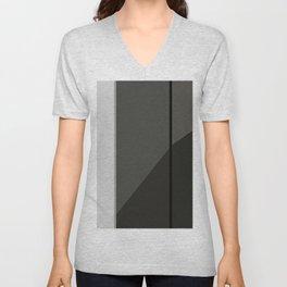 Black and White Geometric Unisex V-Neck