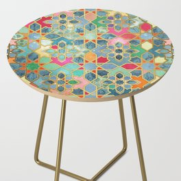 Gilt & Glory - Colorful Moroccan Mosaic Side Table