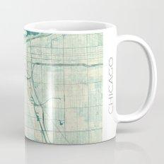 Chicago Map Blue Vintage Mug