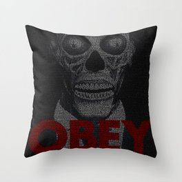 They Live. Obey. Screenplay Print. Throw Pillow