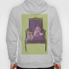 animals in chairs #13 Bunnies Hoody