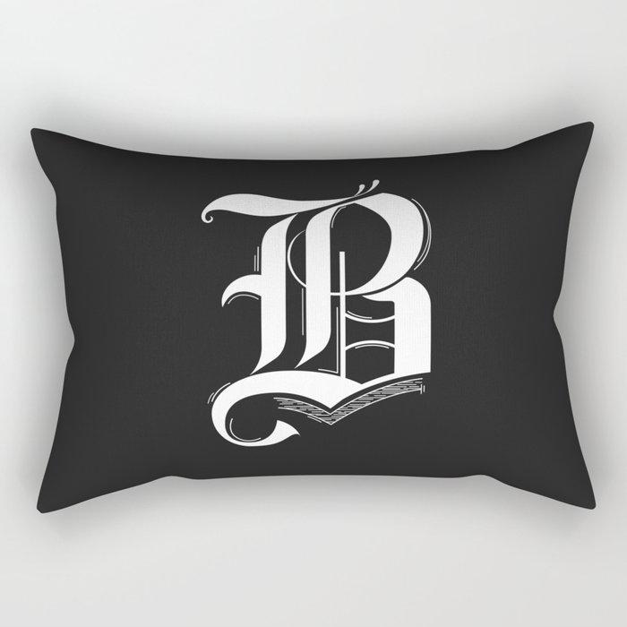 Letter B Rectangular Pillow