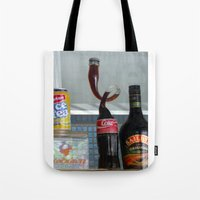 coca cola Tote Bags featuring Coca cola by Miz2017