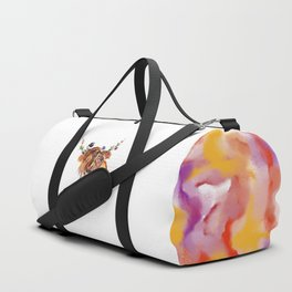 sunset highland cow Duffle Bag