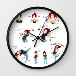 F*CK YOU ! Wall Clock
