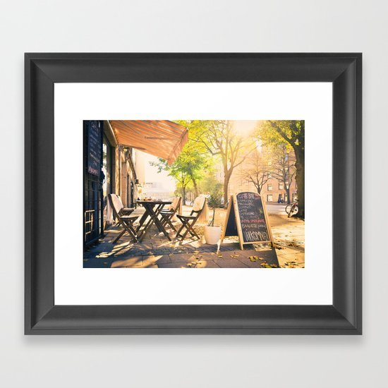 Swedish Sunsets & Coffee Framed Art Print