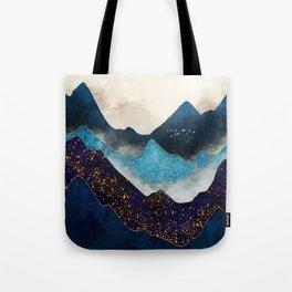 Indigo Peaks Tote Bag