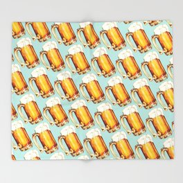 Beer Pattern Throw Blanket