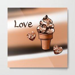 Love Ice cream Metal Print