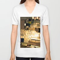 technology V-neck T-shirts featuring Sunset Technology by Encore Designs