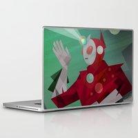 superheroes Laptop & iPad Skins featuring Superheroes SF by Scott Balmer