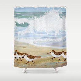 Sandpipers at Emerald Isle Shower Curtain
