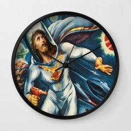 Spaceman Jesus Wall Clock