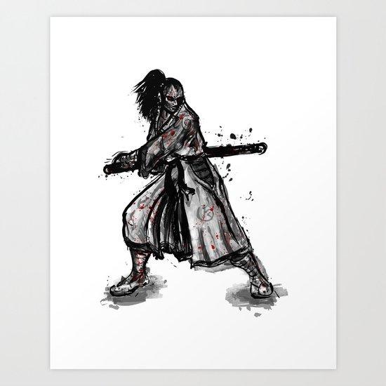 Bloody Samurai Art Print
