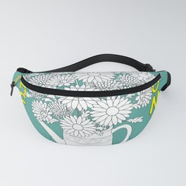 hello summer with yellow butterfly Fanny Pack