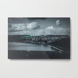 Cityscape Möhne From Reservoir Barrage Wall dark Metal Print