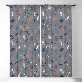 Party Protein on Light Grey Blackout Curtain
