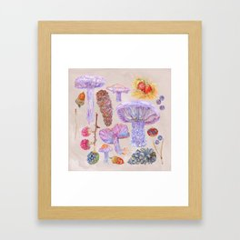 Winter Wood Blewits - Cosy Framed Art Print