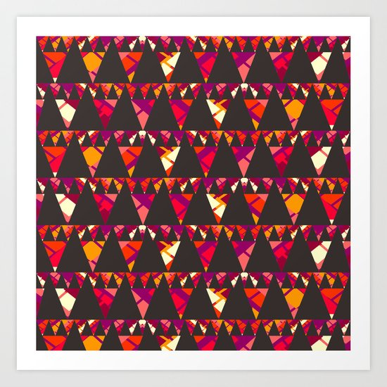 Vibrant triangles Art Print