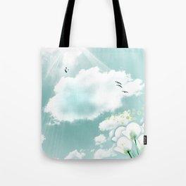 look at the sky Tote Bag