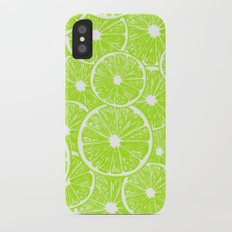 Lime slices pattern iPhone X Slim Case