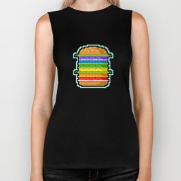 Pixel Hamburger Biker Tank