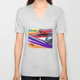 Candy Color Hot Rods, Tasty Automotive Art by Murray Bolesta Unisex V-Neck