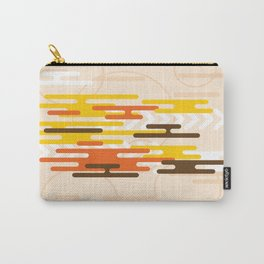 RED, YELLOW AND BLACK ON A PALE PEACH BACKGROUND Abstract Art Carry-All Pouch