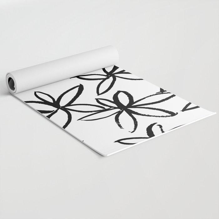 Big Floral Yoga Mat
