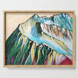 Alyeska Mountain at Jack Sprat Serving Tray