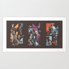 Fear - Chaos - Pain Art Print