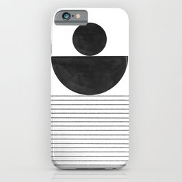 Minimalist Geometric Balance iPhone Case
