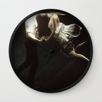 abyss Wall Clocks featuring abyss of the disheartened VII by Heather Landis