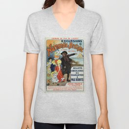 1896 Normandy Brittany Jersey travel ad Unisex V-Neck