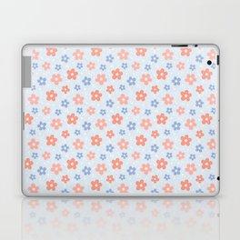 Blue Pink Flower Pattern Laptop & iPad Skin