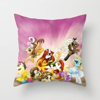 mlp Throw Pillows featuring MLP X-Women by Kimball Gray