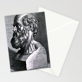 Hippocrates, engraving by Peter Paul Rubens, 1638. Stationery Cards