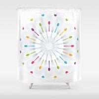 kitchen Shower Curtains featuring Kitchen Utensils by nicky9