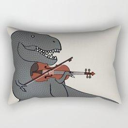 T-Rex Violin Rectangular Pillow