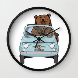 Bear in a pale blue classic 500 Wall Clock