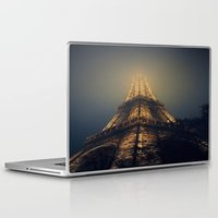 eiffel tower Laptop & iPad Skins featuring Eiffel Tower  by cchelle135