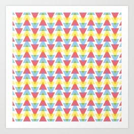Colour mixing triangles Art Print