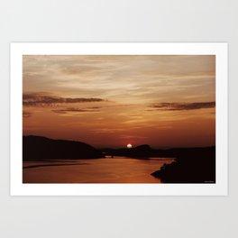 Stunning Norwegian Sunset Art Print